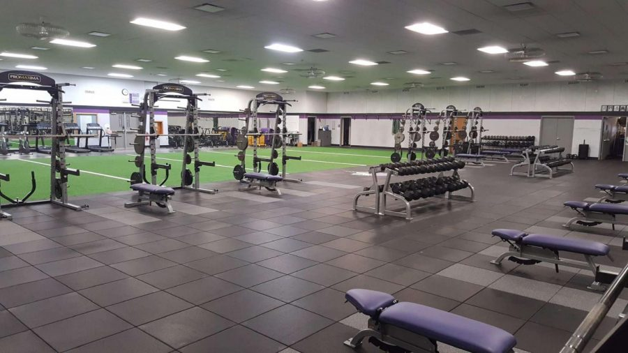 Stoughton+High+School+weight+room+looking+empty+without+athletes.