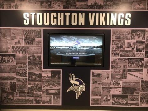Photo of the wall of school teams that sits in the SHS Athletics hallway. Taken by the SHS Athletics Department.