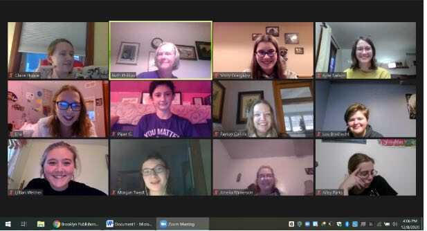 Members meet for virtual forensics team meetings over Zoom