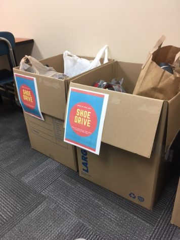 Donations from the shoe drive
