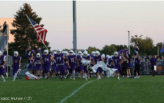 The SHS Football team takes the field prior to a competition with Baraboo.
